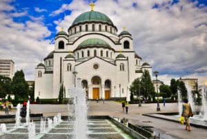 belgrade temple and plateau of saint sava